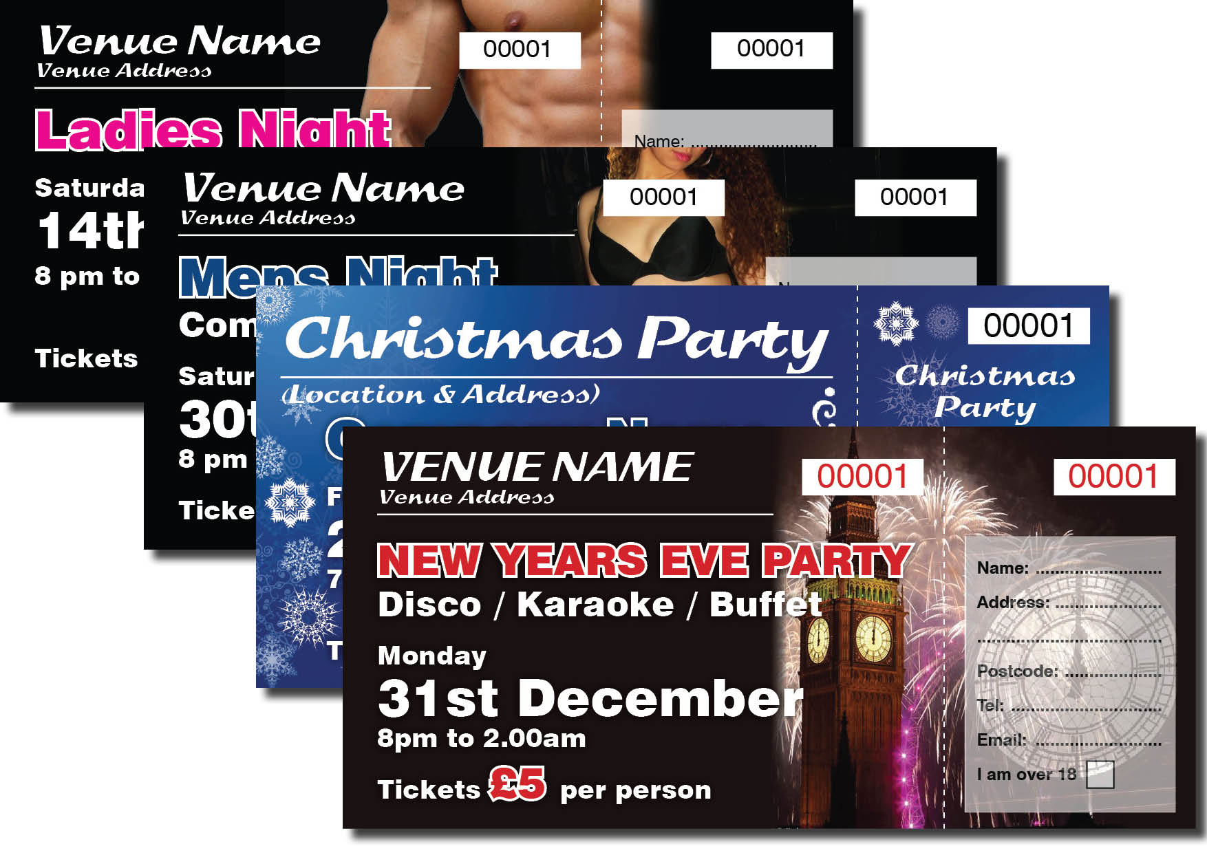 PERSONALISED EVENT TICKETS