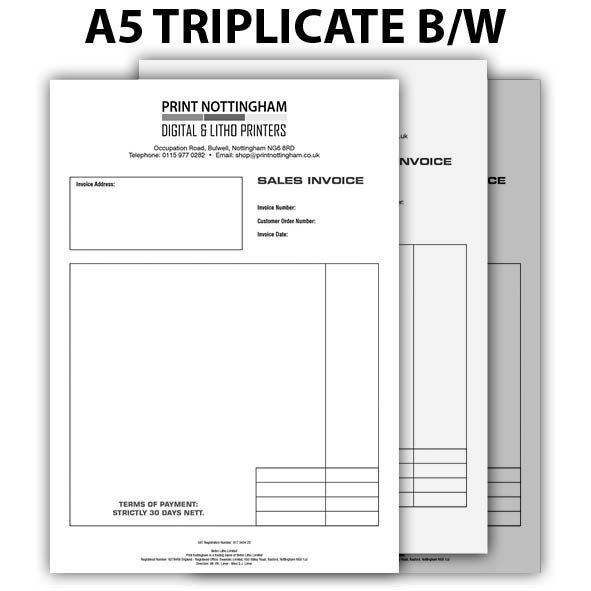 3 PART NCR Pads and Books BLACK A5 x2
