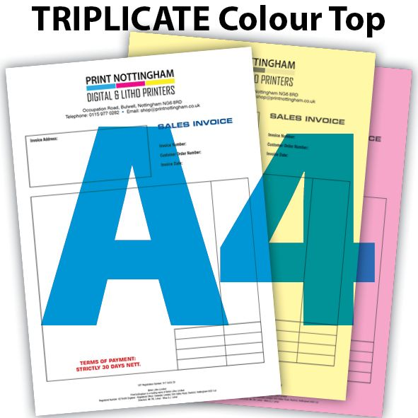 3 PART NCR Pads and Books Colour Top A4 x2