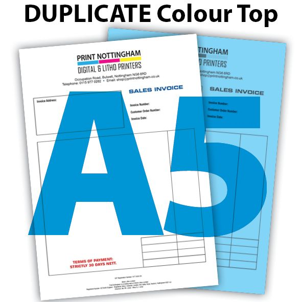 2 PART A5 NCR BOOKS and PADS COLOUR TOP x 2