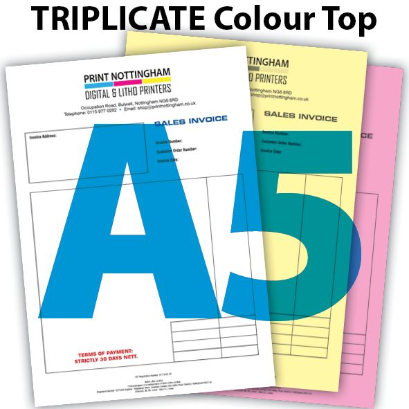 3 PART NCR Pads and Books Colour Top A5 x2